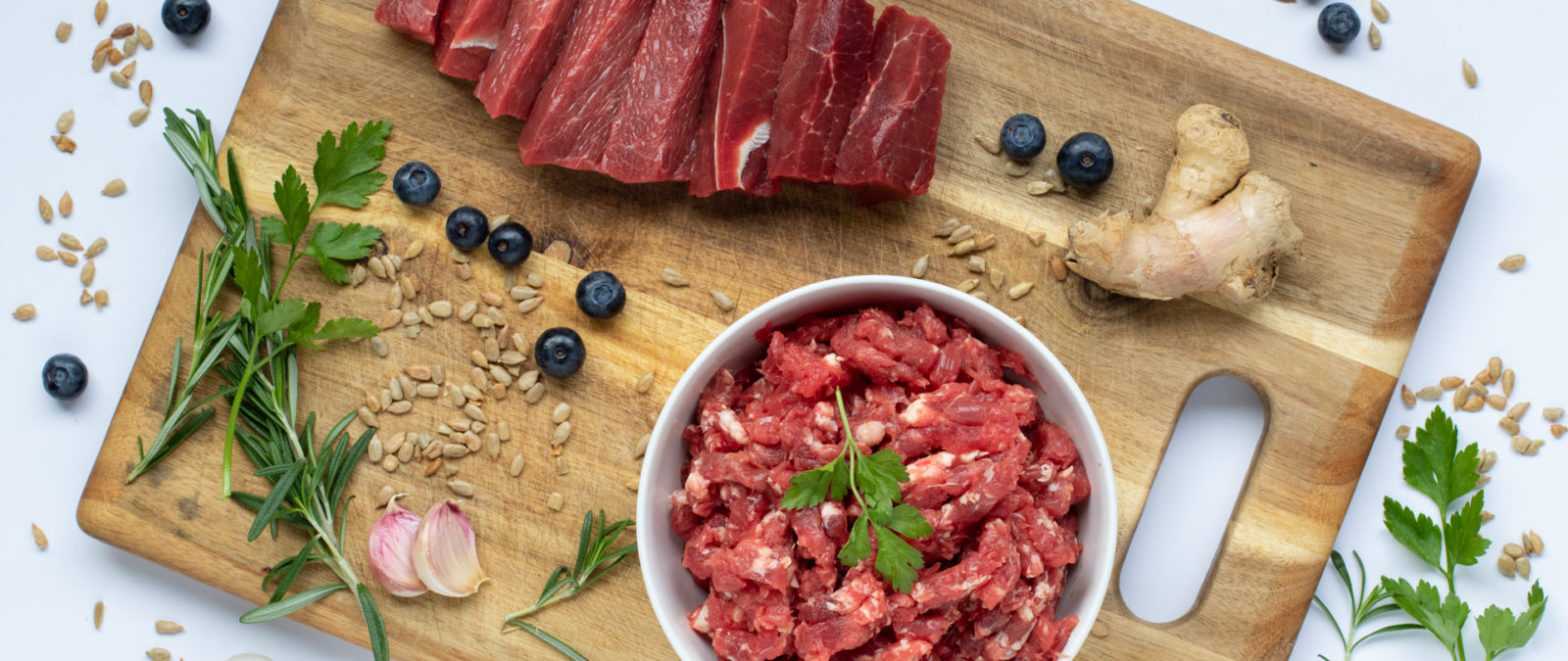 raw beef for dogs